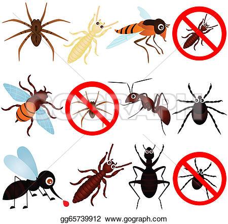 Drawn bugs termite Etc) (mosquito Vector (mosquito termite