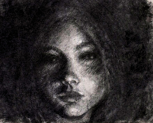 Drawn moth charcoal pencil A Charcoal girl  and