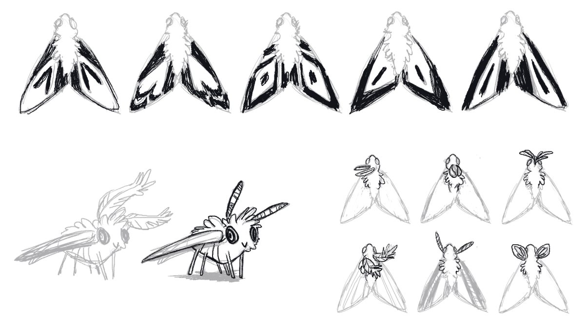Drawn moth simple Simple Moth Drawing drawing photo#13