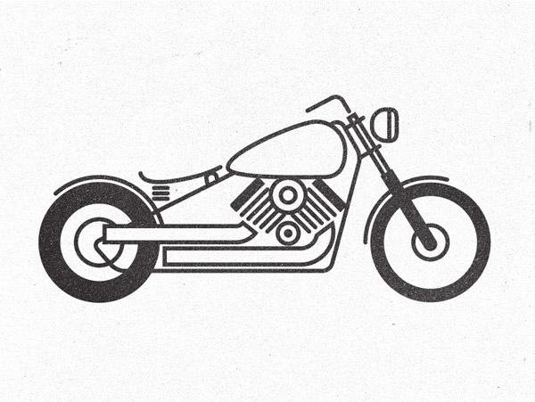 Drawn motorcycle Pictogram motorcycle How Illustrations Stylish