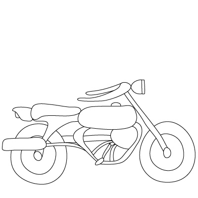 Drawn motorcycle Template  to Motorcycles Pin