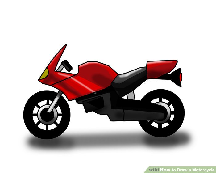 Drawn motorcycle Ways wikiHow Draw Motorcycle Draw