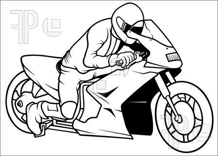 Drawn biker race bike #3