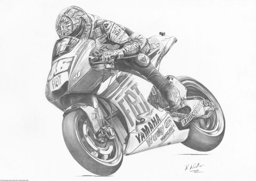 Drawn biker race bike #4