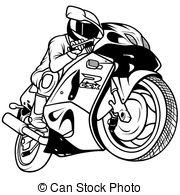 Drawn biker race bike #2