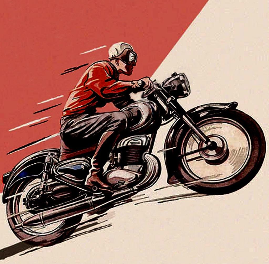 Drawn biker race bike #7