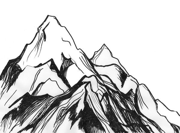 Peak clipart mountain sketch Mountain ideas Google Pinterest drawing