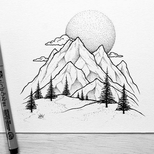 Drawn mountain The mountains the Mountain detail