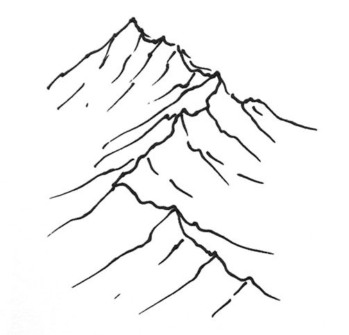 Drawn mountain How Drawing and to Quick