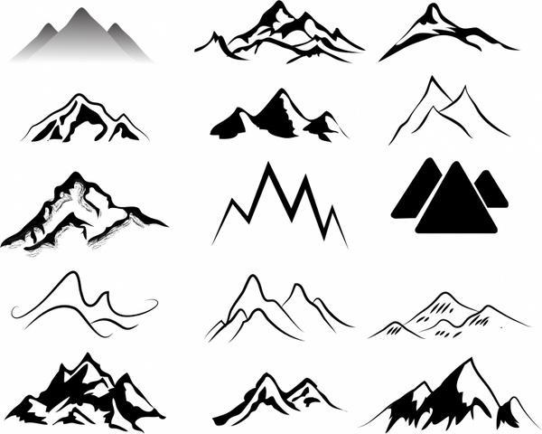 Drawn mountain adobe illustrator ( Free AI Mountains 70MB