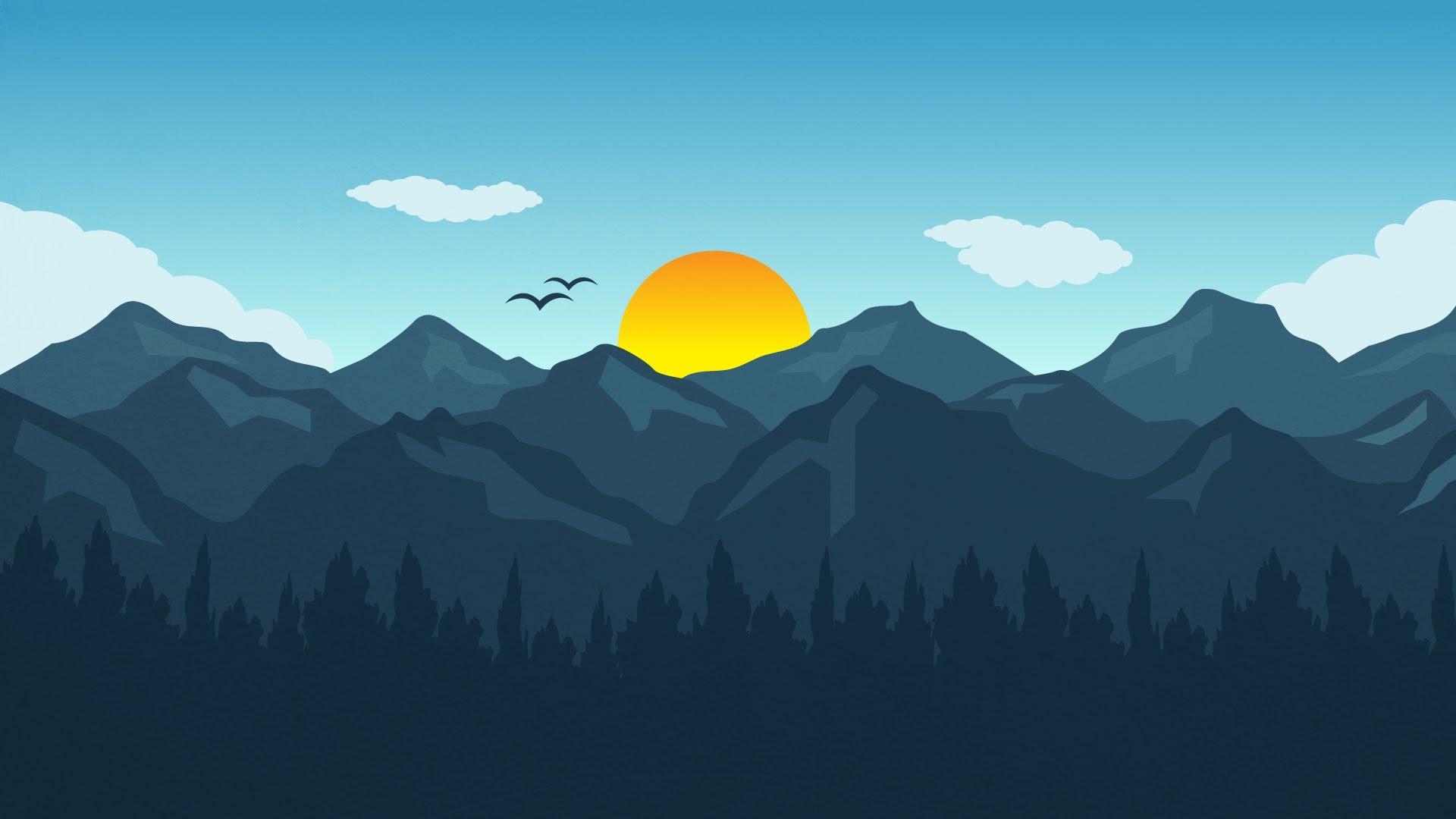 Drawn mountain adobe illustrator CC design Tutorial to landscape