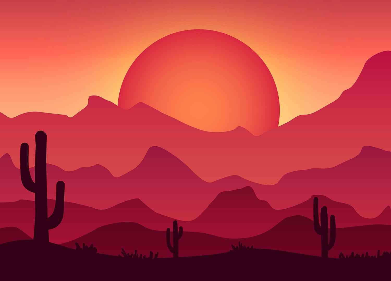 Drawn mountain adobe illustrator Vector Colorful a To