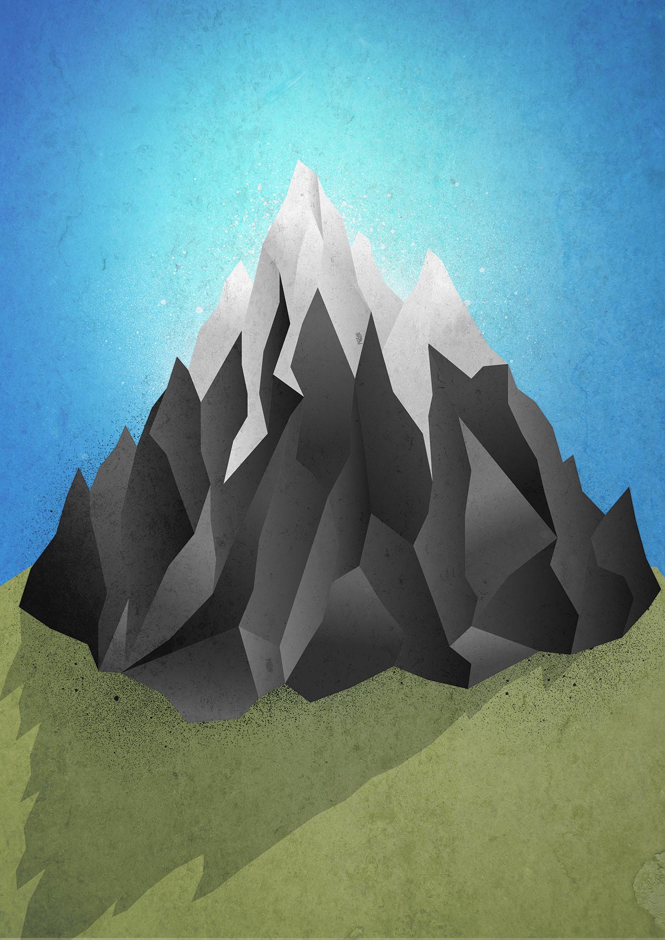 Drawn mountain adobe illustrator Drawn was illustration The Impossible