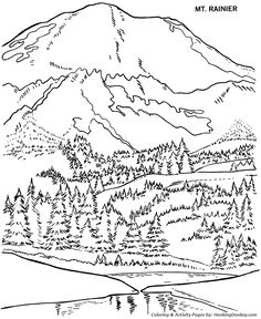 Drawn river colouring page Page Coloring River Pages Day
