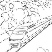 Drawn railroad bullat High in pages coloring speed