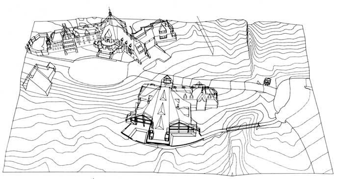 Drawn mountain computer Computer VI (Author) Mountain 2: