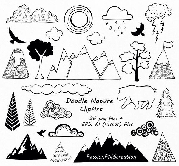 Mountain clipart cute #3