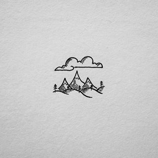 Drawn mountain Find doodles Simple this on