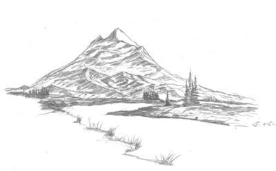 Drawn triipy mountain Mountain Scenes  Peacefull
