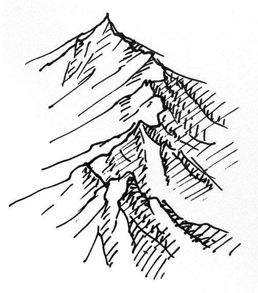 Drawn cilff easy Simple for ranges easy Tutorials
