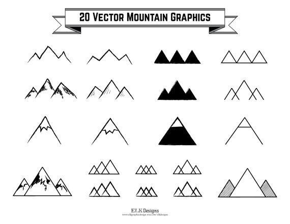 Mountain clipart hand drawn Clip 300 300 20 Vector