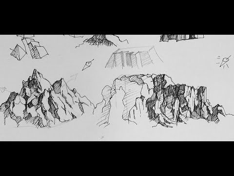 Drawn clouds ink drawing Draw Ink How Pen Pen