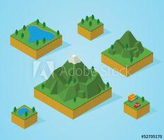 Drawn mountain isometric A pre assembly Mountain Mountain