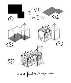 Drawn mountain isometric Draw How to drawn mountains