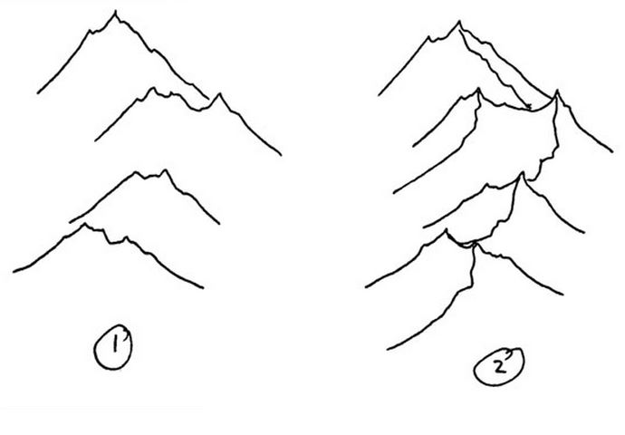 Drawn mountain isometric Isometric Also on WARS: here