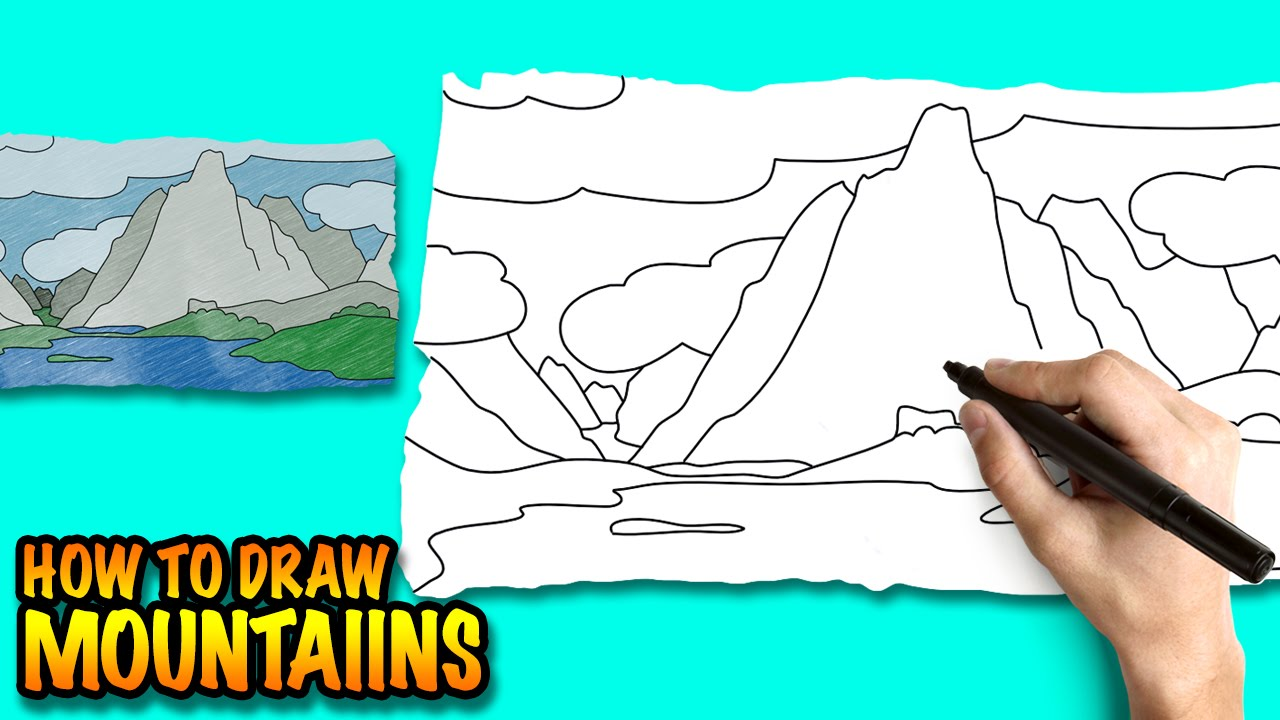 Himalaya clipart mountain sketch To drawing for lessons by