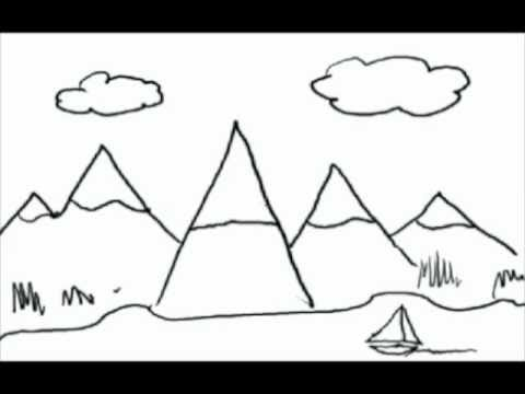 Drawn house little kid Letters YouTube lesson kids from