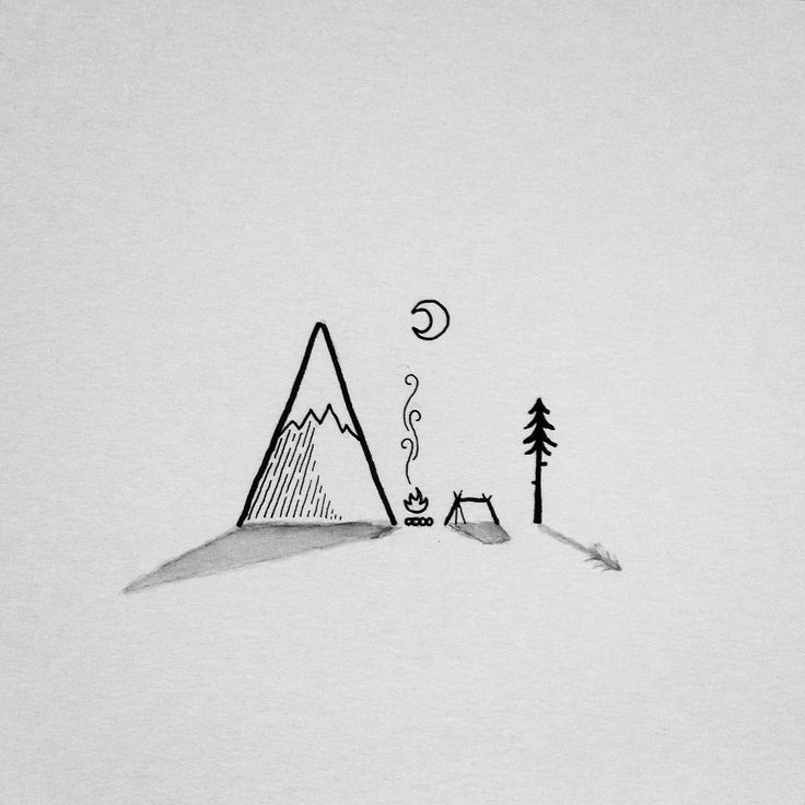 Drawn mountain line art #doodle mountain best on lonely