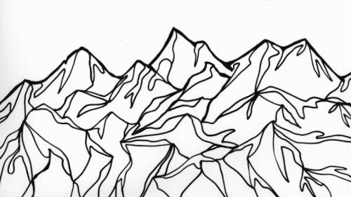 Drawn mountain line art Gctm doodle mountain 5 min