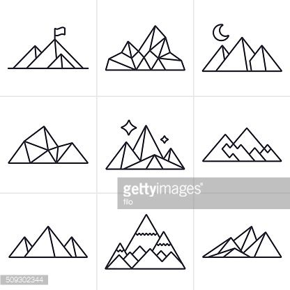 Drawn mountain line art Tattoo Best Pinterest Icons and