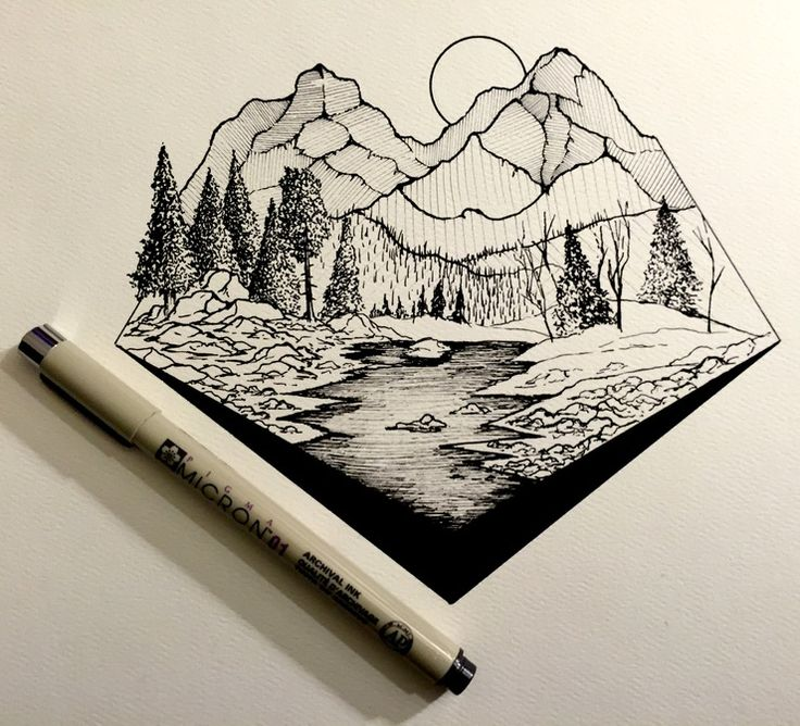 Drawn mountain line art Images Myers Derek by Daily