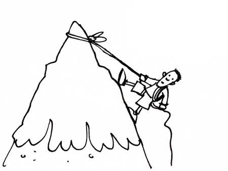 Drawn mountain mountain climbing Illustration Side Up Mountain Mountain