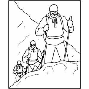 Drawn mountain mountain climbing Making Coloring Making Coloring Climbing