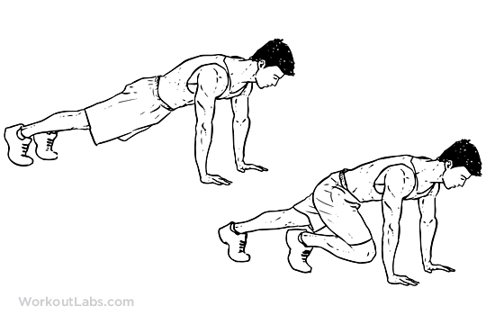 Drawn mountain mountain climbing Mountain Exercise Climbers WorkoutLabs guide