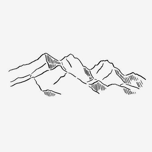 """Drawn mountain mountain line Ideas Pinterest """" TattooMountain Mountain"""