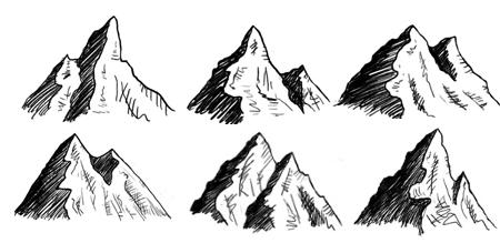 Drawn mountain mountain line How Here side random the