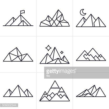 Drawn mountain mountain line Pinterest Mountain Best ideas Mountain