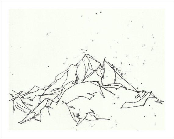 Drawn mountain mountain line Ideas Pinterest And <b of