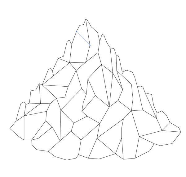 Drawn mountain mountain line Low Art a Mountain Create