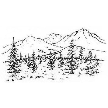 Drawn scenery mountain Drawing Drawings drawing mountains art