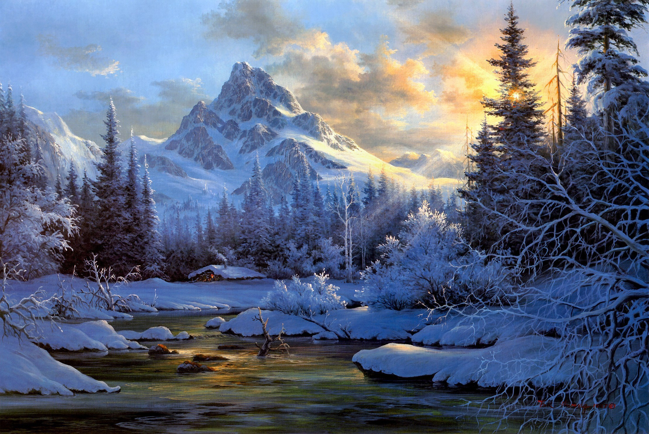 Drawn river mountain river Mountain Picture images of of