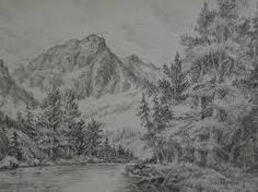 Drawn scenery mountain Drawing mountains Search mountains pencil