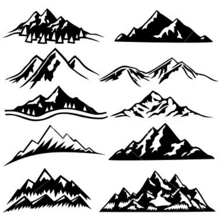 Peak clipart mountain sketch Mountain Mountain silhouette Silhouettes Ranges