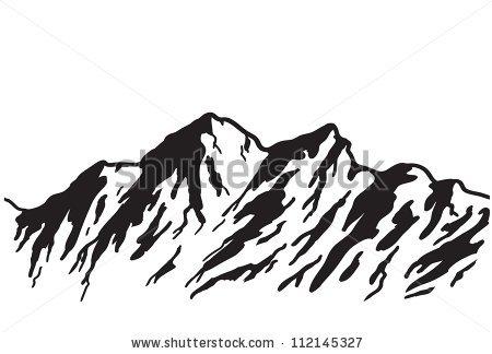 Denver clipart Mountain Clipart Outline Clipart range Hand Drawn