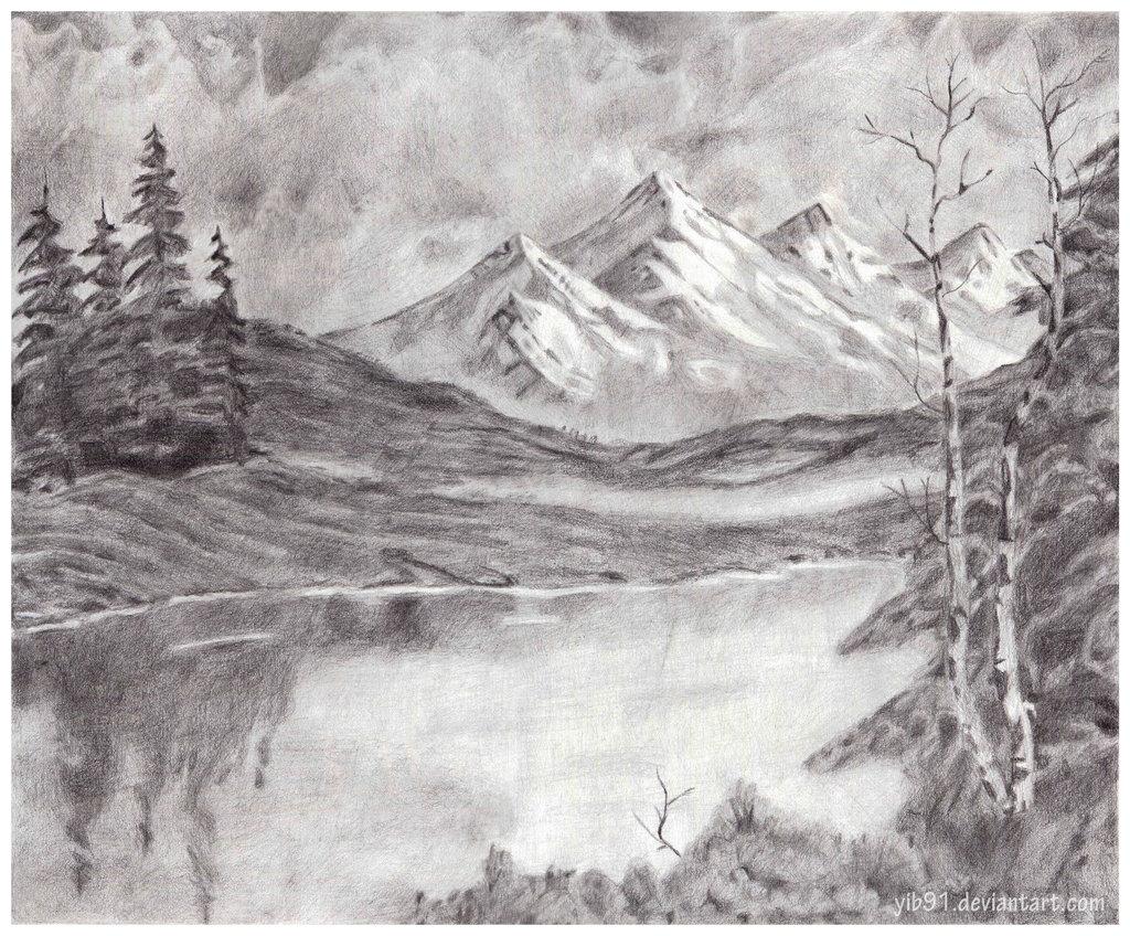 Drawn scenery mountain Deviantart com+on+@deviantART deviantart Mountain+Landscape+by+yib91 In