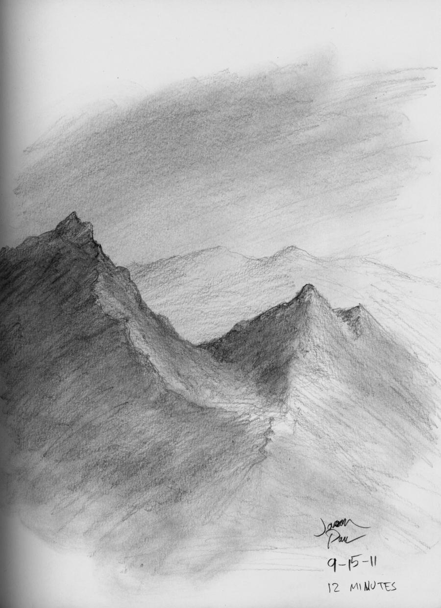 Drawn scenery mountain Pencil jdp89 by Mountain Mountain